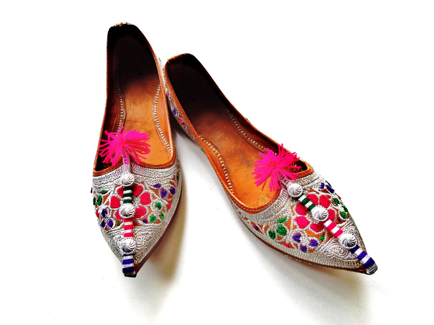 Indian Ladies Beaded Shoes Size