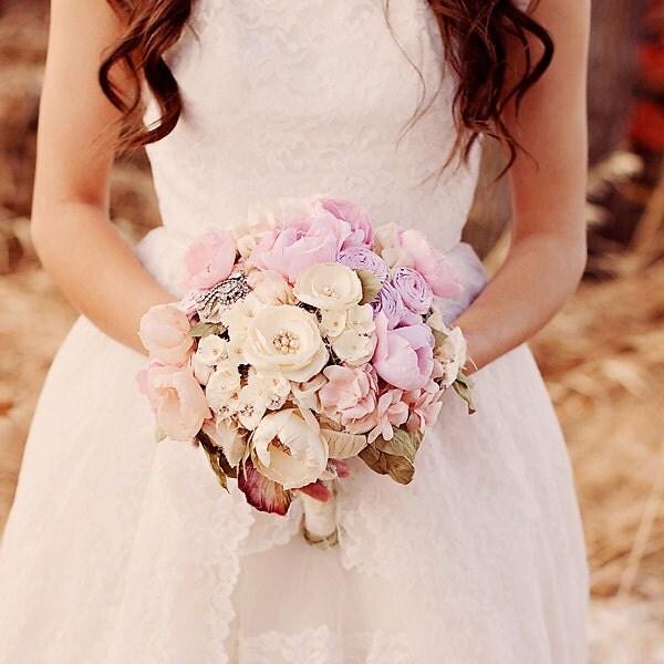 Sparkle and Fray Vintage rhinestone Wedding Bouquet heirloom bouquet