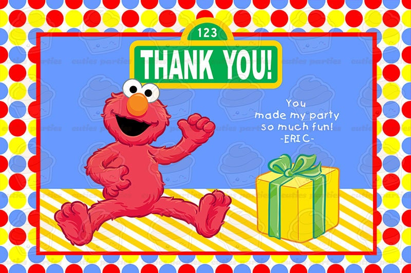 Elmo Printable Birthday Party KitCuties Parties – Elmo Birthday Card