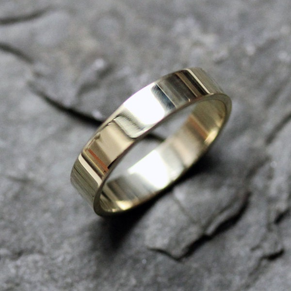 14k green gold wedding band, custom made to order