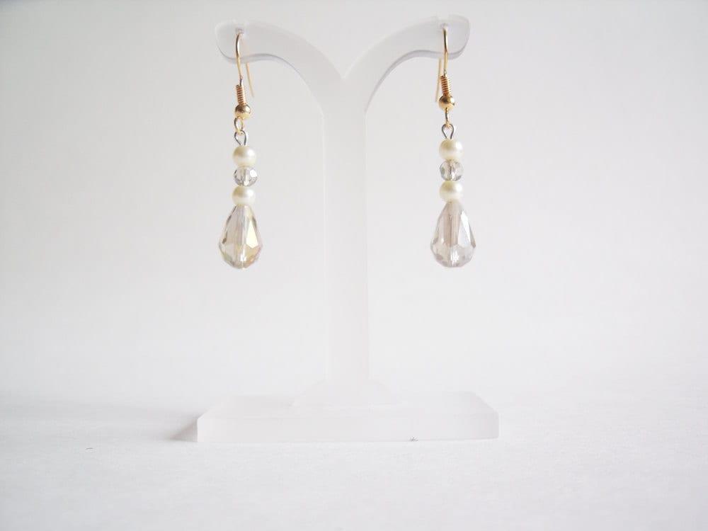 Pearl Bridal Drop Earrings Ivory Pearl Bridal Earrings