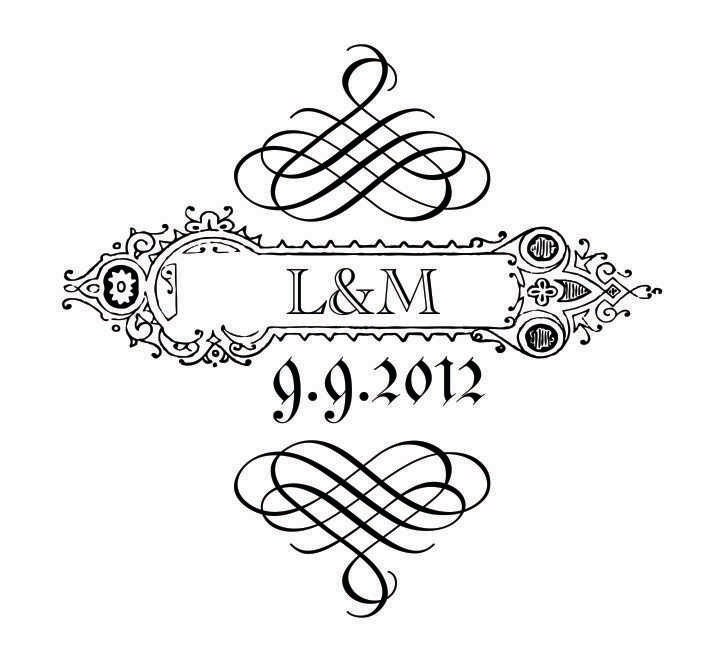 Custom Monogram for Stationery Wedding Invitations Other Invitations