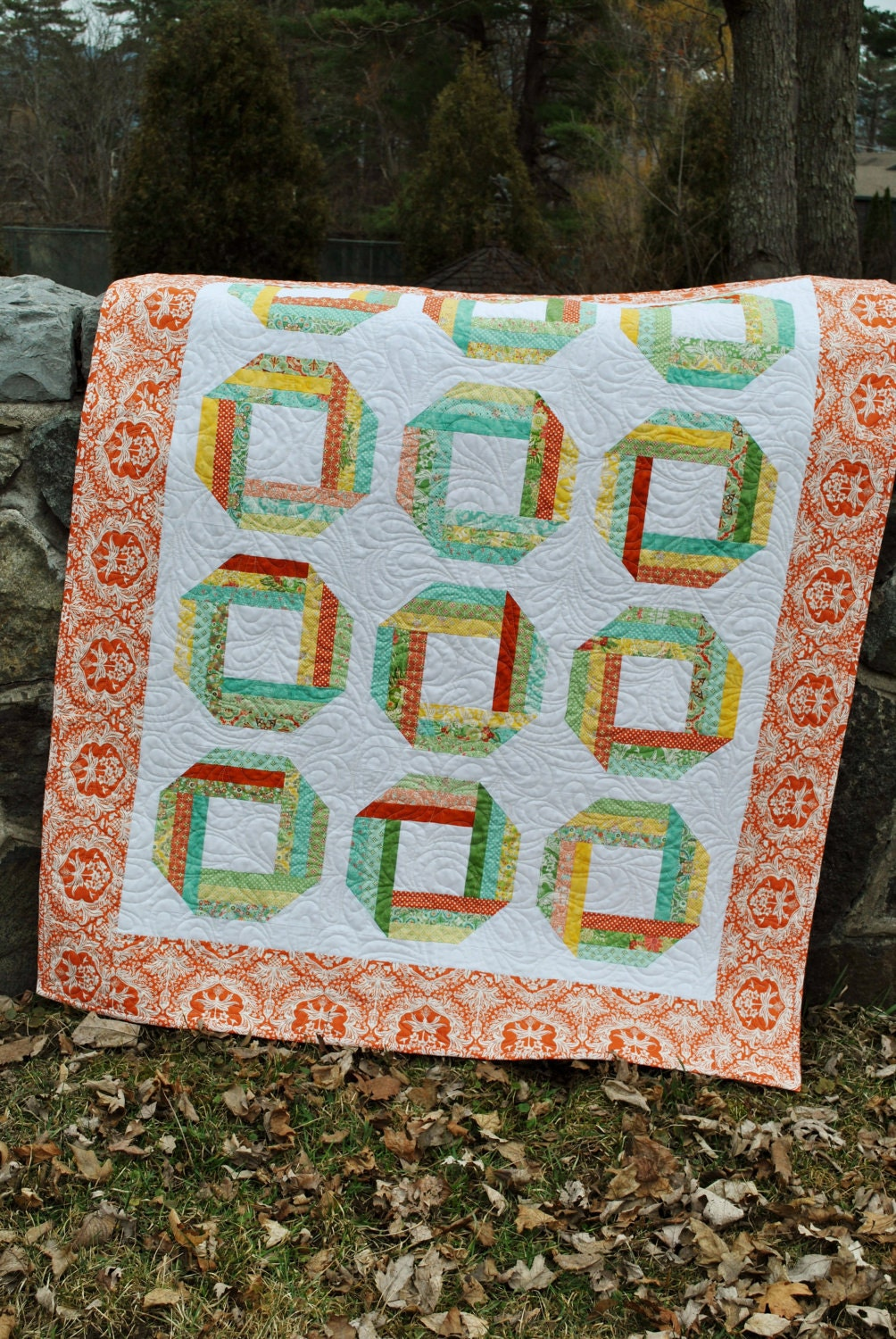 Quilt Pattern For 9 Fat Quarters : QUILT PATTERN Baby or Lap size, Layer Cake, Honey Bun or Fat Quarter, Quick