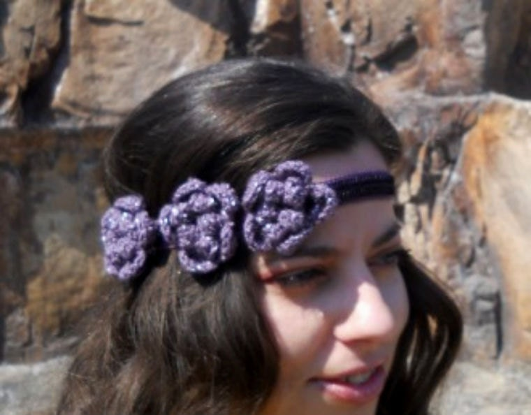 Hippie Headband Hippie Flower Headband Womens Boho Headband Bohemian Head
