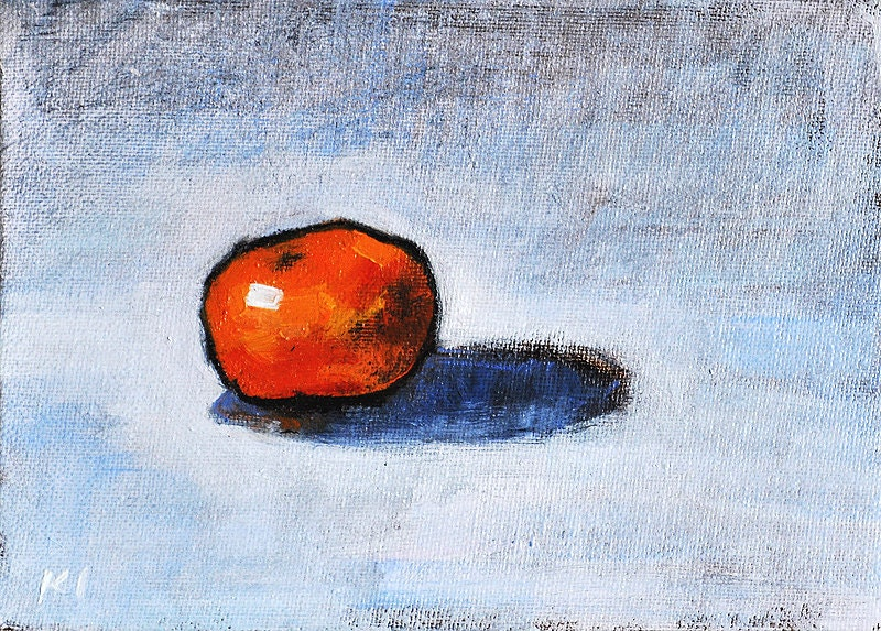 Clementine Orange Still Life Daily Painting