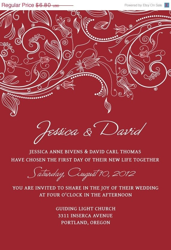 black and red wedding invitation templates