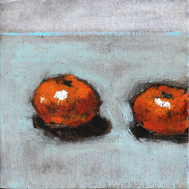 Clementine Orange Original Still Life Fine Art Painting